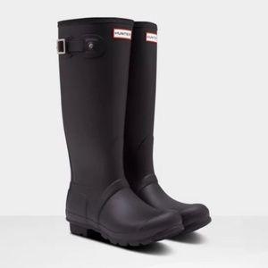 Hunter Original Women's Tall Rain Boots Black 10